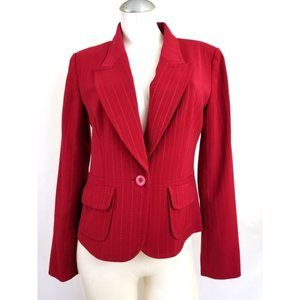 Bloomingdale's Size 8 Red Blazer